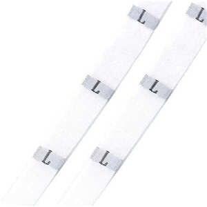 """DoreenBeads размер этикетки одежда тканые бирки XS-2XL белый черный 32 мм(1 2/"""") x 12 мм(4/8"""") 1 рулон(около 400 шт - Цвет: white L"""