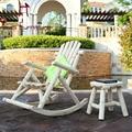 Estilo campiña woodmuti-color balcón silla reclinable