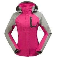 женщин бренд 3-слойный выявляется зима сноуборд катание на лыжах куртки ветровка спорт верхняя одежда водонепроницаемый лыжный костюм для женщин
