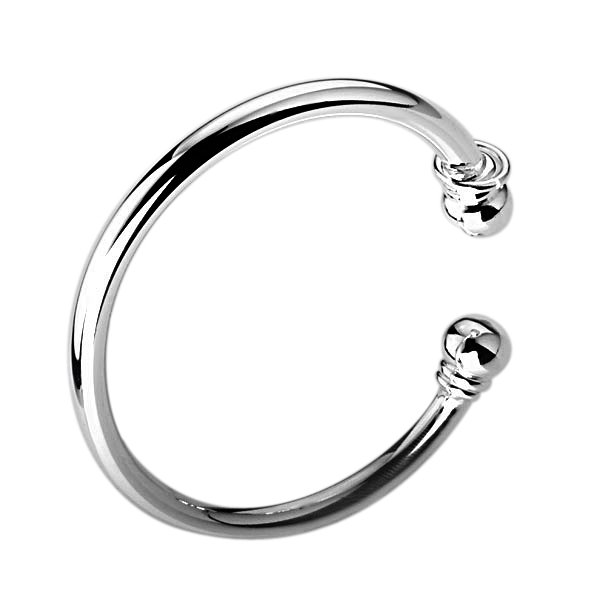 Fashion B027 925 Bangle Silver Plain Bracelet Band Cute Gift Flat Golf With