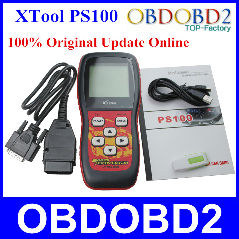 100 Original Xtool PS100 OBDII Can Scanner Update Online PS 100 OBD2 Erase Trouble Code Free