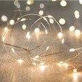 2016 Nueva 2/3/4/5 M Decorativo de Navidad LED Luces de Hadas de la Secuencia de Interior/Al Aire Libre Opcional LEDs de COlor Led Neon Alambre de Plata Al Por Mayor