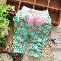 2016 nuevas niñas pantalones de algodón harén niños pantalones pantalones harem del cordón del bebé del otoño del resorte pantalones