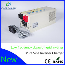 Smart Low Frequency Pure Sine Wave Power Inverter 12VDC To 220VAC 1500W With Battery Charger