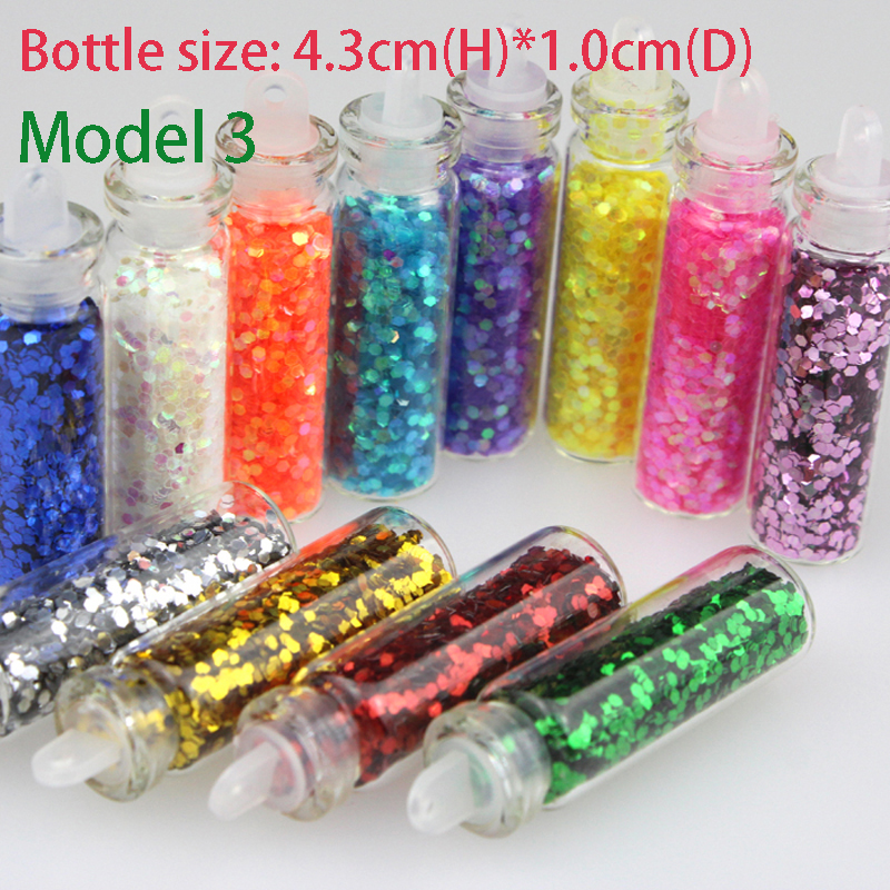 Bluezoo New 12 Bottles Mixed Colors Nail Art Glitter Small Hexagon Paillette Decoration Nails Beauty Tips