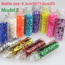 Bluezoo New 12 Bottles Mixed Colors Nail Art Glitter Small Hexagon Paillette Decoration Nails Beauty Tips DIY Makeup Accessories