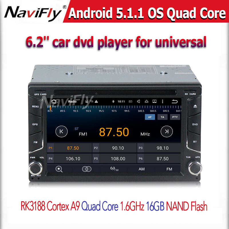 Quad core 2 din android  5.1  2din New universal Car Radio Double Car DVD Player GPS Navigation In dash Car PC Stereo video