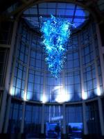 גדול כחול צבעוני פוצץ מוראנו זכוכית נברשת CE/UL תעודה 110 V 240 V מלון לובי סגנון אמנות קישוט תאורה-בנברשות מתוך פנסים ותאורה באתר