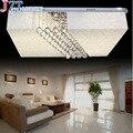 M Новый Хрустальный потолочный светильник  роскошная квадратная люстра  потолочный светильник  Современная Гостиная D45 * 45 D60 * 60 см  светодио...