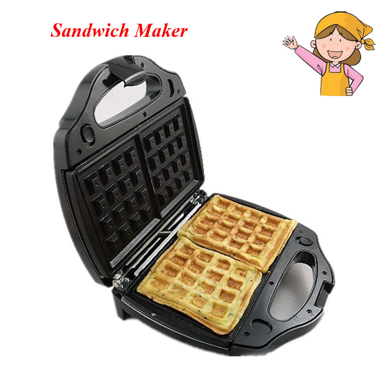 Hot ! Safety Adjustable Temperature Contral Sandwich Maker 220V Home Use Electric Waffle Maker Machine Kitchen Appliance Tools
