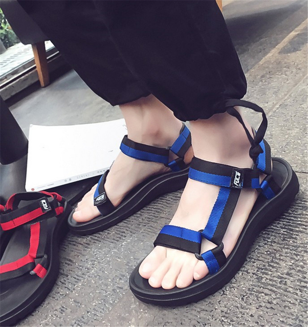 2016 summer new Korean version of the new influx of students casual sandals muffin bottom shoes for men