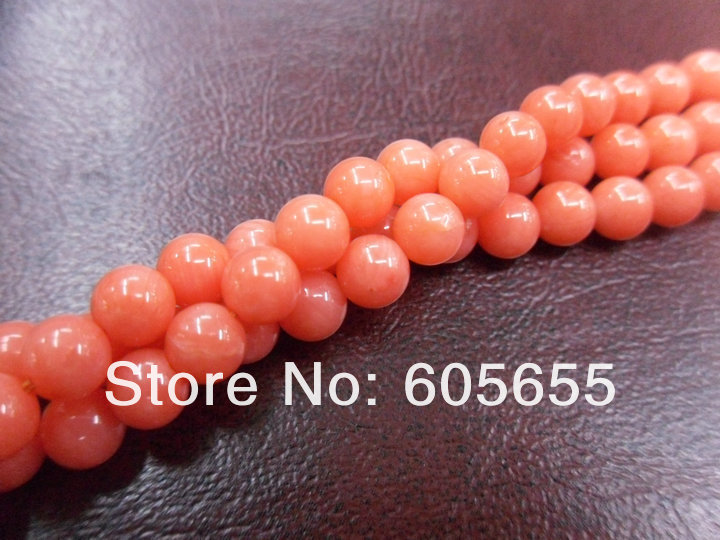 Класс А качество 6 мм морской бамбуковый оранжевый цвет коралловый круглый свободные бусины 10 нитей в партии