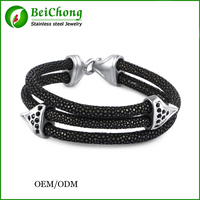 Best Friend New Fashion Anchor Bracelets Stingray Leather Bracelet for Women Man Best Friends Gift pulseira with CZ