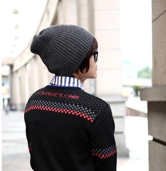 2017 הסתיו winterFashion זכר ברים הסתיו והחורף סריגה כובע בקהאם אופנה גבר אביזרי אופנה 1pc
