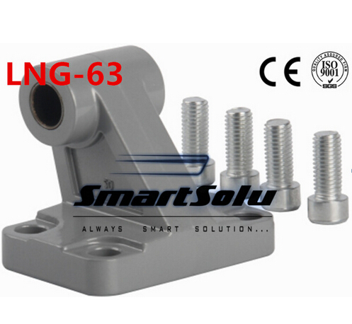 Free Shipping 5pcs/lots LNG - 63 ISO6431 cylinder attachment, inclined installation of the support, DNC, SE cylinder accessories attachment and mentoring functions of career and psychosocial support