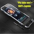 """Original Luphie Caso No Vidro Traseiro Para IPhone 6 4.7 """"em Liga de Alumínio de Metal do caso do quadro para apple iphone 6 s plus 5.5 polegadas armadura caso"""