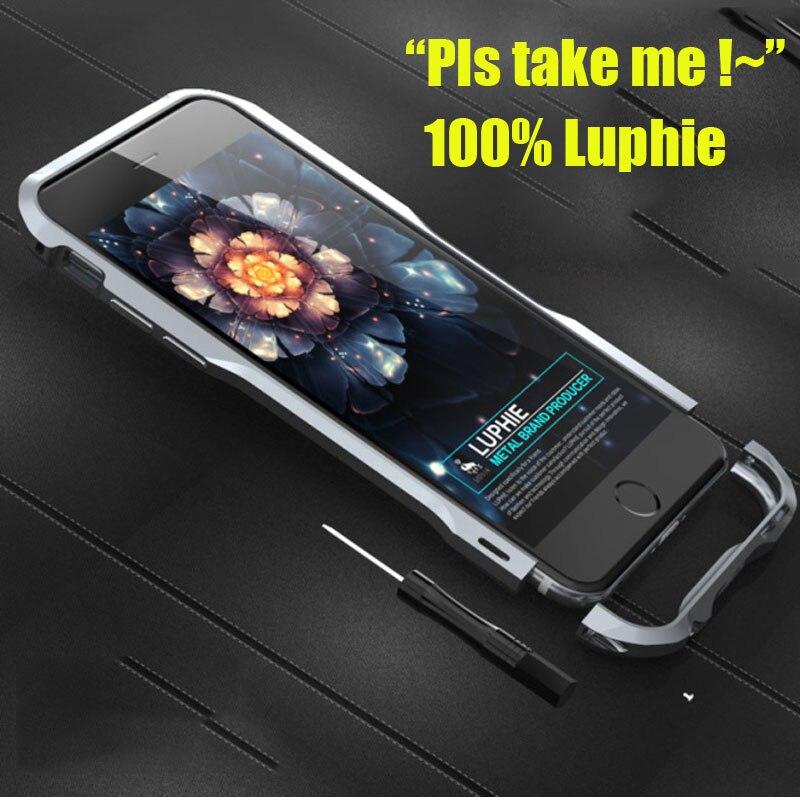 """imágenes para Original Luphie Caso de Parachoques Para El Iphone 6 4.7 """"De Aluminio de Aleación de Metal del Caso Del capítulo Para Apple iPhone 6 S Plus 5.5 pulgadas Armadura caso"""