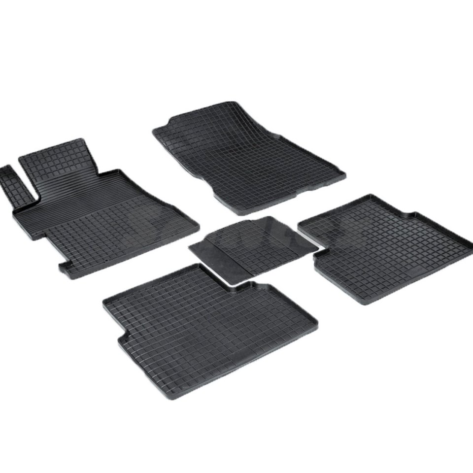 Rubber grid floor mats for Honda Civic VIII SEDAN 2006 2007 2008 2009 2010 2011 Seintex 00602 rubber grid floor mats for honda accord viii 2008 2009 2010 2011 2012 seintex 00758