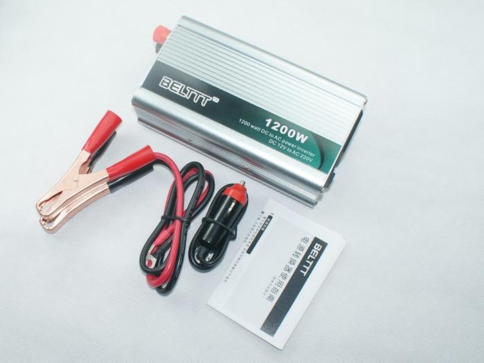 Livraison gratuite onduleur 12 V à 220 V 1200 w, 2400 w convertisseurs de puissance de crête alimentation chargeur convertisseur prise universelle
