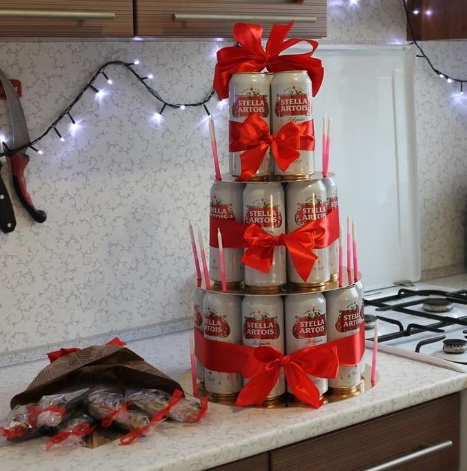 букет для мужчины из пива