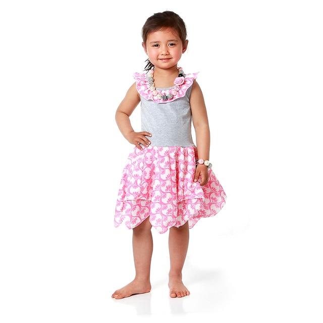 36b5632bbe5d 2016 Children Fancy Dress Baby Frock Designs Pink Flower Girl Dress ...