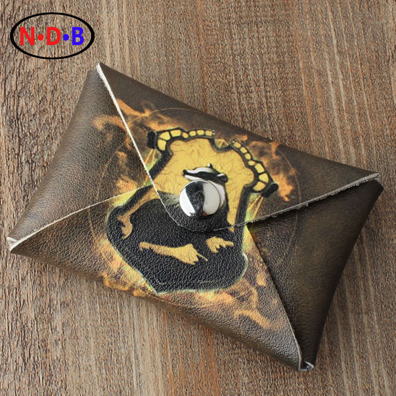 (Coin Purses) Potter Harry Hufflepuff coin purse Card package Short stamp coin bag for men and women students LQB1083