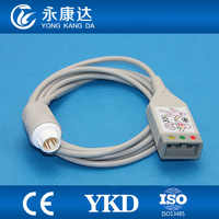Compatilbe for HP M1688A ECG trunk cable,3lead,AHA/IEC ,12pins