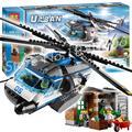 528 шт. 2016 БЕЛА 10423 Городской Полиции Крук Вертолет Наблюдения здания убежище баррель наручники Совместимо с Lego