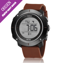 Ohsen Sport Men Watch Digital Water resistant Unisex Simple Alarm Date Multi-color Men's Watches with Rubber Band Hour Hands