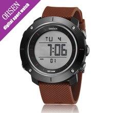 Ohsen Unisex Simple Alarm Date Multi-color Men Digital Watch Sport Waterproof Mens Rubber Watches Male Clock Reloj