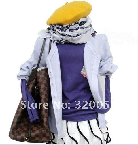 5 шт./партия, шерсть, супер популярный модный дикий берет/береты с козырьком, осенние и зимние разноцветные шапки для женщин
