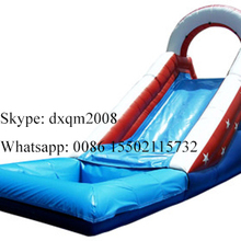 2016 new arrival inflatable water slides for sale/ outdoor amusment park swimming pool slide for family used