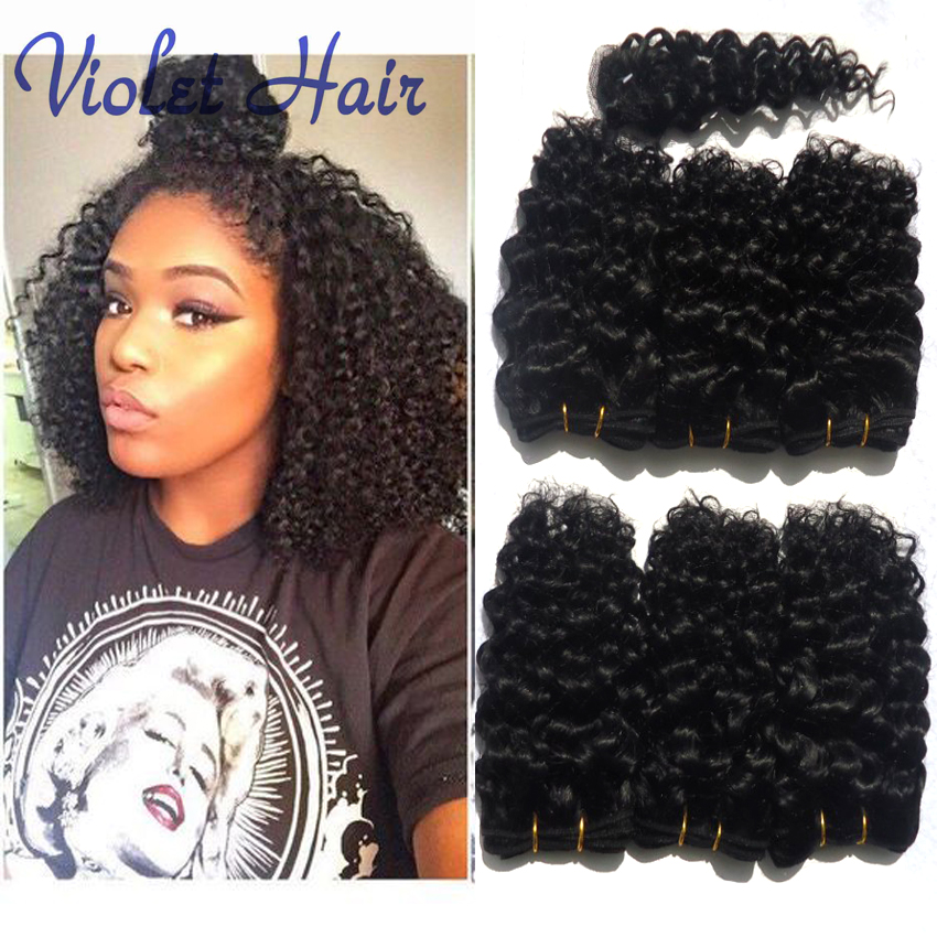 Curly Brazilian Hair Extensions Short Human Hair Style Afro Kinky