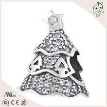 b0ee86b7304 Festival Decoração Da Árvore de Natal Cheio De Zircão S925 Esterlina das  Mulheres de Prata Charme