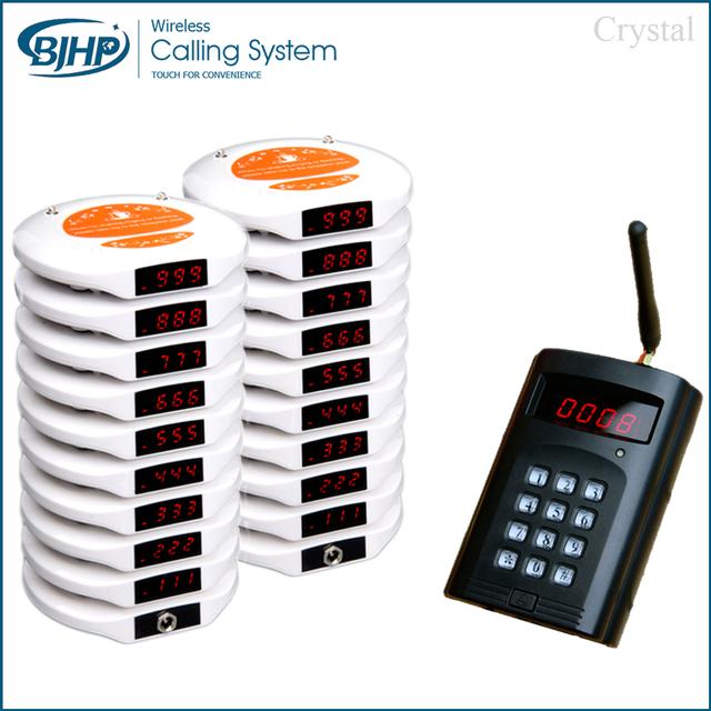 1 transmissor de 20 pagers 2 carregador Fácil de Usar Restaurantes de Fast Food Mesa Buzzer Sistema de Paginação de Hóspedes