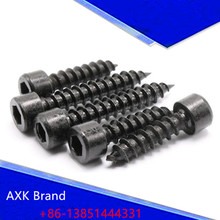 30Pcs M3.5 M4 HA Black Cylinder Head Hexagon Head Self-tapping Screws Cup Furniture Sound Sharp Screws AXK49