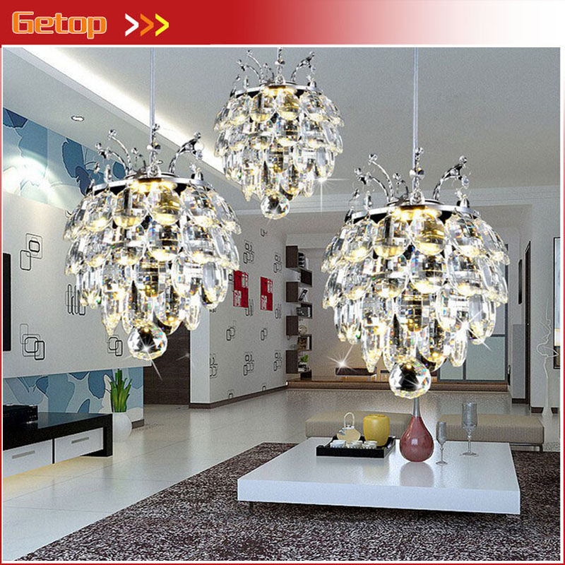 ZX Modern New Crystal LED Chip Chandelier Luxury Lustre 1 or 3 Heads Light Fixture for Bedroom Porch Corridor Diningroom Lamp