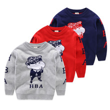 Quality boys sweaters cartoon girls sweaters long sleeve casual kids sweaters cotton pullover for boys kid outwear tops costume