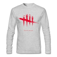 Men Shirts Casual Custom Made Dead By Daylight New Tee Shirts Long Sleeve Round Neck Men