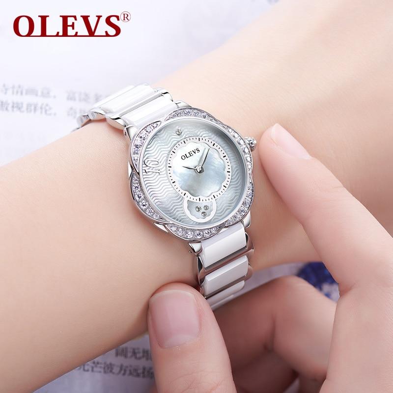 ФОТО OLEVS new boutique ladies fashion watch top luxury high-grade quartz watch waterproof steel with a female watch clock