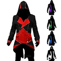 Assassins's  Creed 3 Anime Game Connor Red Black 7 Color To Choose Coat Cos  Cosplay Clothing for Men Plus size