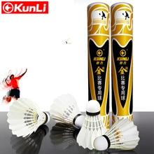Kunli badminton shuttlecocks KL-gold Top grade goose feather shuttlecocks for International Tournament Best durable best flying