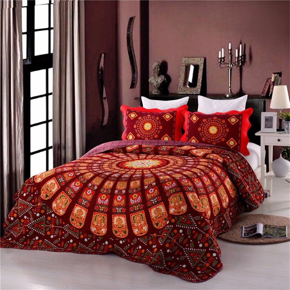 couvre lit 200x250 Style classique 3 pcs 1 * couvre lit 2 * taies d'oreiller 200x250  couvre lit 200x250