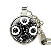 Doctor Who Jewelry TIme Lord Gallifreyan Key Holder Symbol dr Who Keychain for Keys Tardis Time Lord Time Lord Companion