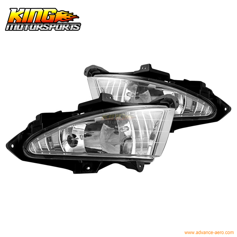 For 07 08 09 10 Hyundai Elantra Fog Lights Wiring Kit Included Clear Lamps USA Domestic Free Shipping Hot Selling