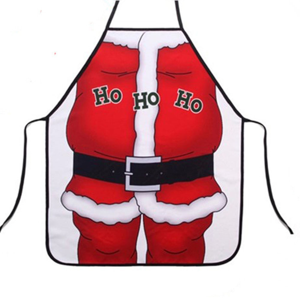 Novelty ornaments - Christmas Decoration Santa Claus Apron Whimsy Novelty Gift For Kitchen Apron Santa Sacks Navidad Natal