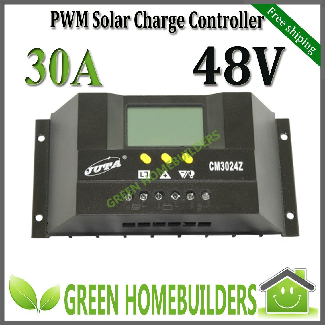 DHL free shipping , 48V auto 30A intelligent PWM solar charge ...