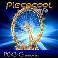ICONX Piececool 3D Металлические Головоломки 3D London Eye Колесо обозрения Комплекты лазерная Резка Модель Подарочные Игрушки Для Взрослых Главная Картины Головоломки Дети игрушка