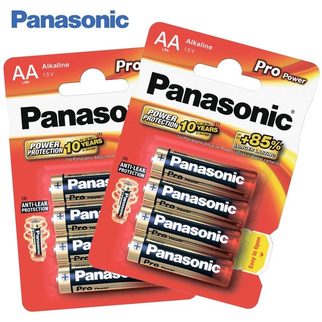 Panasonic LR6XEG/4BP Щелочные батарейки 8 штук Alkaline Pro Power AA 1.5 В, Защита от протекания, Сохранение энергии в течение 10 лет