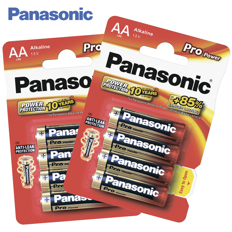 Panasonic LR6XEG/4BP Batteries 2 bl/8 ps Alkaline Pro Power AA 1.5V For devices with medium and low energy consumption ag8 lr55 1 55v alkaline cell button batteries 10 piece pack